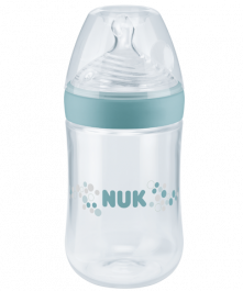 NUK Nature Sense Baby Bottle 260ml with teat