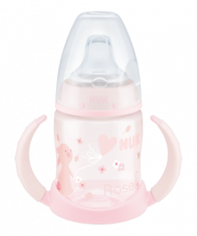 NUK First Choice Baby Rose & Blue Learner Bottle 150ml with spout