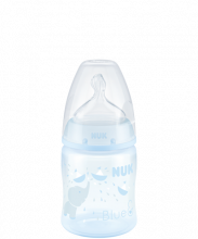 NUK First Choice Plus Baby Rose & Blue Bottle 150ml with Teat-Blue-Elephant