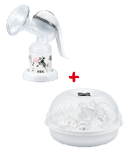 NUK Jolie Breast Pump and Steriliser Combo