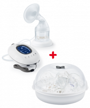 NUK Nature Sense Rechargeable Electric Breast Pump + Micro Express