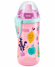 NUK Flexi Cup 300ml with Straw Purple