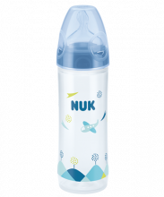 NUK New Classic Baby Bottle with Teat-250ml-Blue