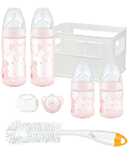NUK First Choice Rose and Blue Crate Starter Pack-Rose Rabbit