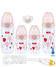 NUK First Choice Plus Temperature Control Starter Set-Pink