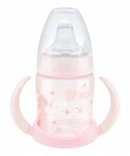 NUK First Choice Baby Rose & Blue Learner Bottle 150ml with spout rose rabbit