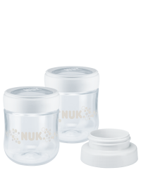 NUK Nature Sense Breast Milk Container with Breast Pump Adapter